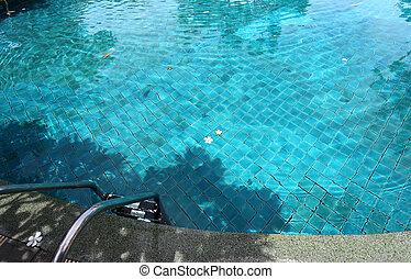 clear blue pool