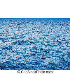 clear blue sea and white with space for text