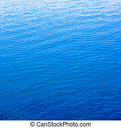 clear blue sea with space for text