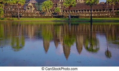 Clear Blue Skies over Angkor Wat in Time-Lapse