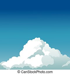 clear blue sky cloud design