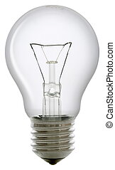 Clear light bulb isolated on white