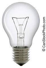 Clear bulb - Clear light bulb isolated on white