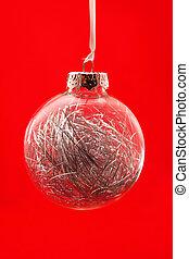clear christmas ornament