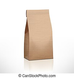 Clear Craft paper Bag Pack. EPS10 Vector