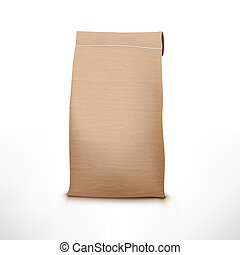 Clear Craft Paper Bag Pack Isolated On White - Clear Craft...