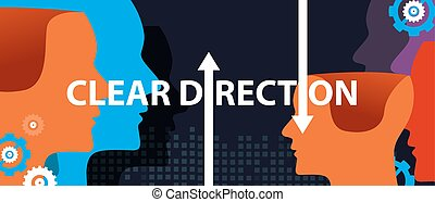 clear direction concept of leadership head thinking as a team