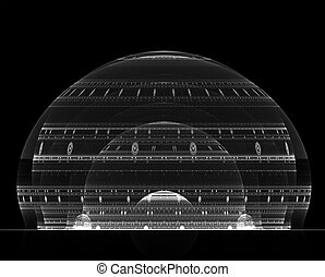 clear dome - abstract rendering of tiered dome structure