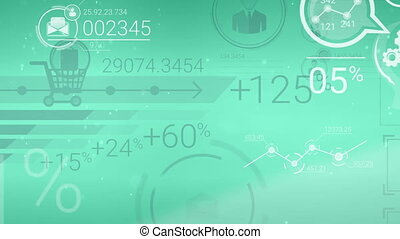 Clear Green Corporate Background With Abstract Elements Of Infographics