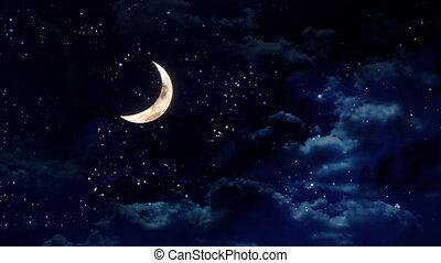 clear half moon wide