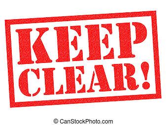 clear!, mantenha