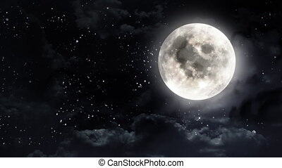 clear moon black white