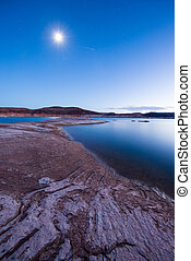 Clear night and calm waters of Lake Powell