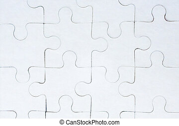 Clear puzzle pieces pattern