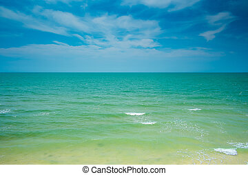 Clear sea and blue sky