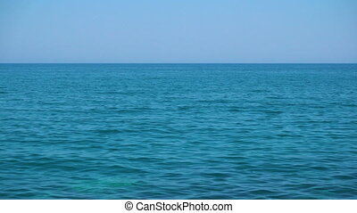 Clear sky and blue sea  - Seascape
