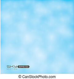 Clear sky - Illustration of clear sky, with clouds, vector...