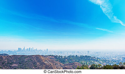 Clear sky over Los Angeles