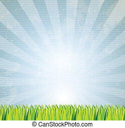 clear sky over pattern background vector illustration