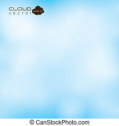 clear sky with clouds - Illustration of clear sky, with...