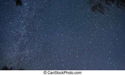 Clear starry sky. UltraHD (4K)