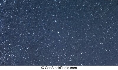 Clear starry sky. Zoom