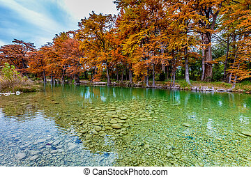 Clear Texas River in Fall