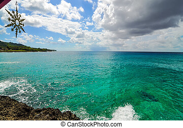 Clear Turquoise Caribbean Water