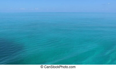 Clear water of caribbean sea near C