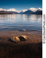 Clear Water Polished Rocks Lake McDonald Glacier National Park