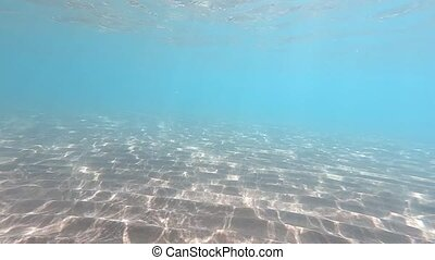 Clear water. underwater background with sandy sea bottom. Natural texture