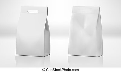 Clear White Craft Paper Bag Pack With Handle And Without....