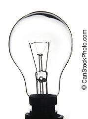 Clear white lightbulb - White lightbulb on a white...