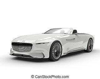 Clear white modern hi - tech concept car