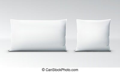 Clear White Square Pillow With Shadow