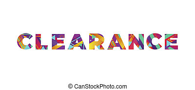 Clearance Concept Retro Colorful Word Art Illustration