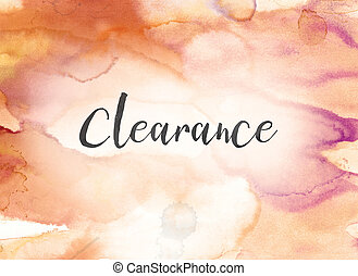 Clearance Concept Watercolor and Ink Painting