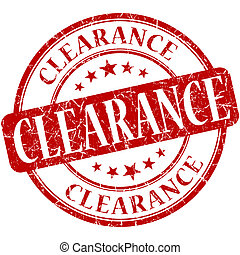 Clearance grunge red round stamp