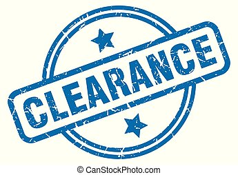 clearance grunge stamp - clearance round vintage grunge...