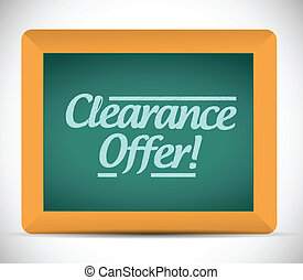 clearance offer sign illustration design