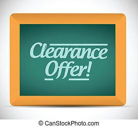 clearance offer sign illustration design