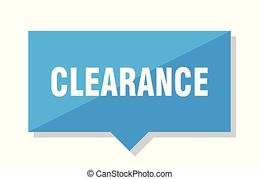 clearance price tag - clearance blue square price tag