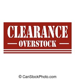 Clearance-red stamp