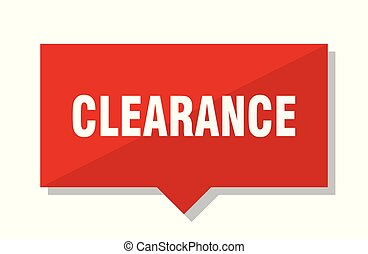 clearance red tag - clearance red square price tag