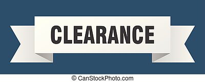 clearance ribbon. clearance isolated sign. clearance banner