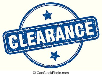 clearance round grunge isolated stamp