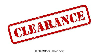 Clearance Rubber Stamp Vector