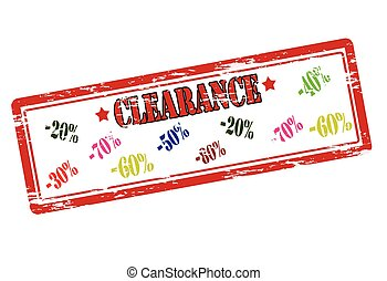 Clearance - Rubber stamp with word clearance inside, vector...