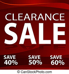 An image of a red clearance sale background.