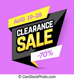 Clearance Sale banner, poster